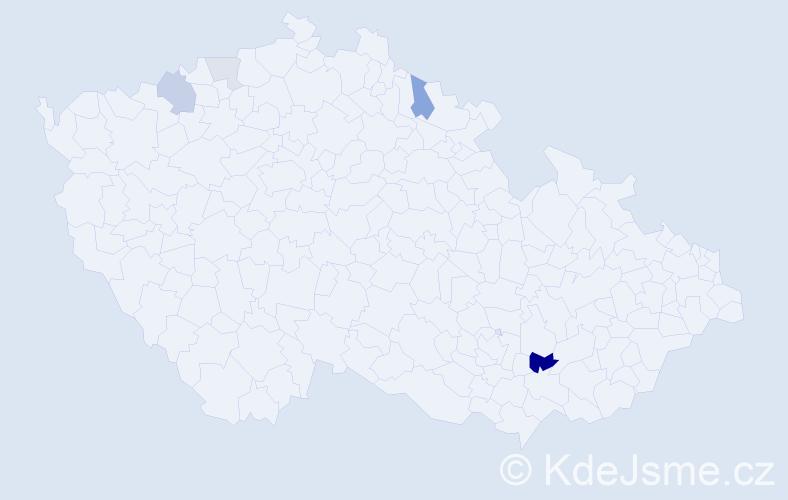 Příjmení: 'Kazihnitka', počet výskytů 10 v celé ČR