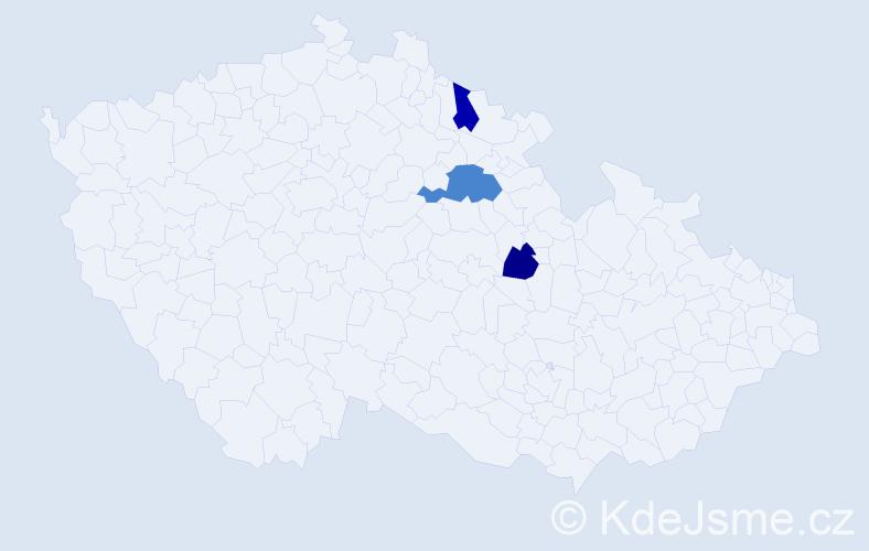 Příjmení: 'Gebasová', počet výskytů 4 v celé ČR