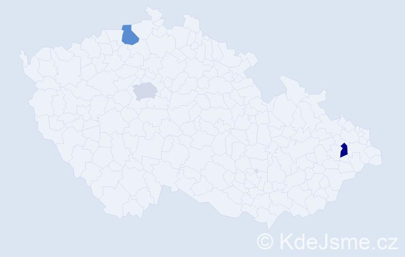 Příjmení: 'Cibáková', počet výskytů 3 v celé ČR