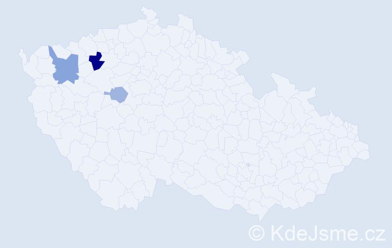 Příjmení: 'Glassa', počet výskytů 6 v celé ČR