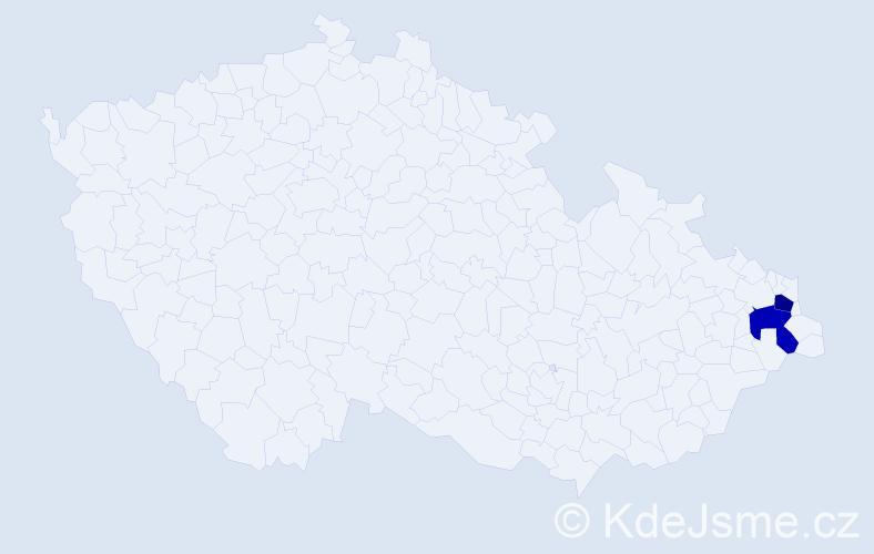 Příjmení: 'Gawryšová', počet výskytů 6 v celé ČR