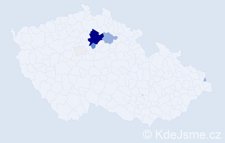 Příjmení: 'Hejdrych', počet výskytů 27 v celé ČR