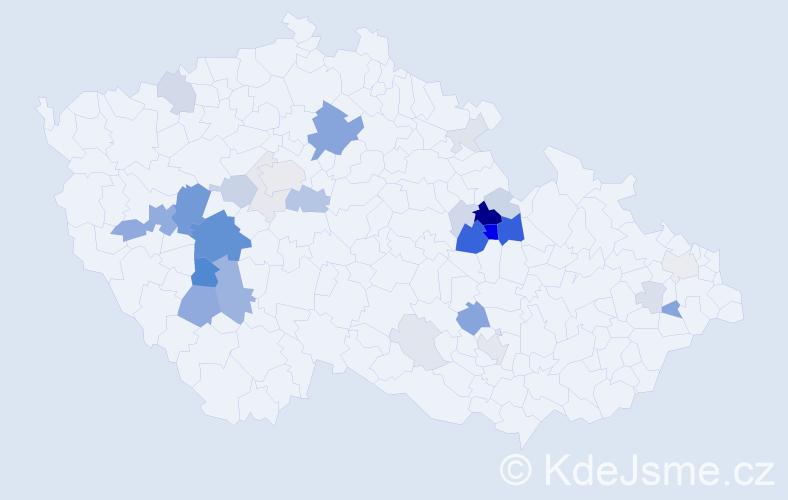 Příjmení: 'Váně', počet výskytů 111 v celé ČR