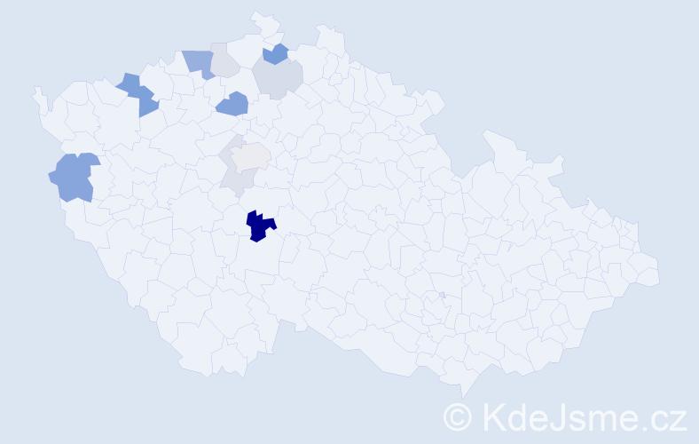 Příjmení: 'Habenichtová', počet výskytů 21 v celé ČR