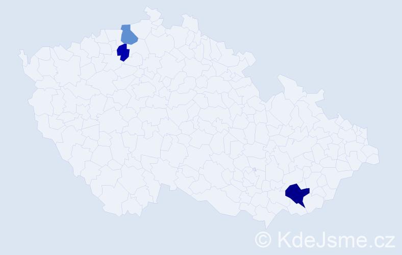 Příjmení: 'Baičevová', počet výskytů 11 v celé ČR