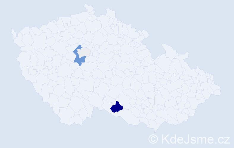 Příjmení: 'Kruch', počet výskytů 8 v celé ČR