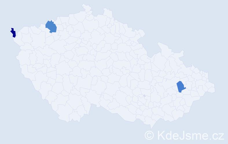 Příjmení: 'Andrejčuk', počet výskytů 4 v celé ČR