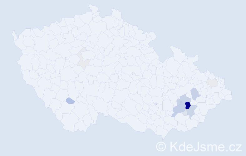 Příjmení: 'Hejníková', počet výskytů 33 v celé ČR
