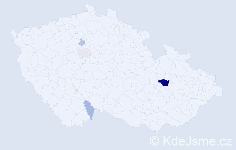 Příjmení: 'Jergonová', počet výskytů 12 v celé ČR