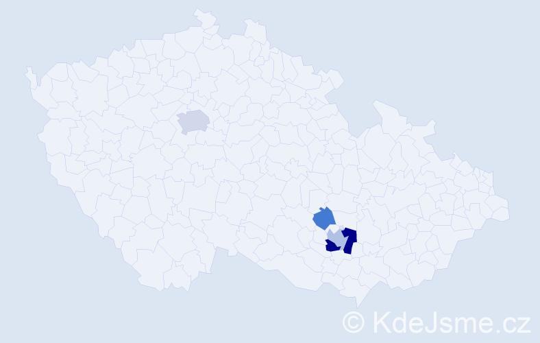 Příjmení: 'Hostěradská', počet výskytů 10 v celé ČR