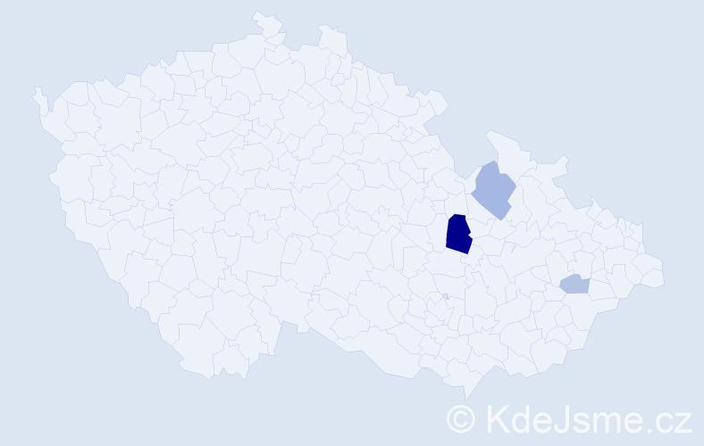 Příjmení: 'Getzl', počet výskytů 8 v celé ČR