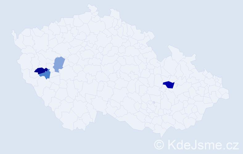 Příjmení: 'Grantnerová', počet výskytů 6 v celé ČR