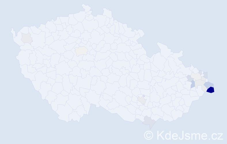 Příjmení: 'Kowolowská', počet výskytů 39 v celé ČR