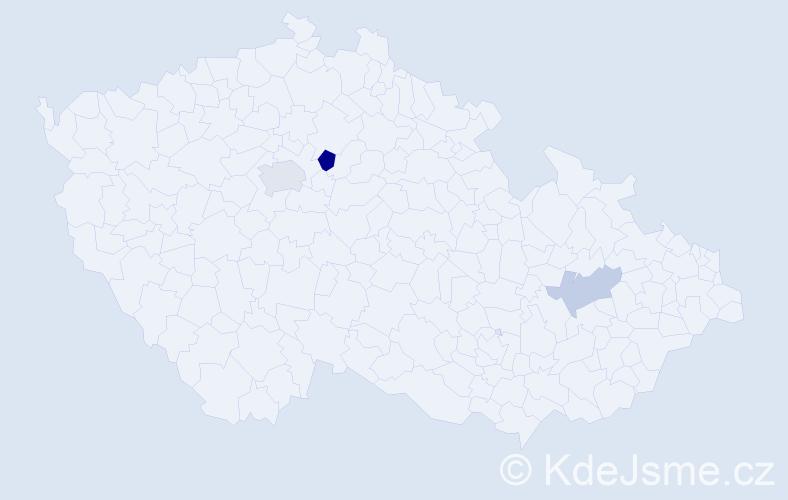 Příjmení: 'Čepělová', počet výskytů 5 v celé ČR