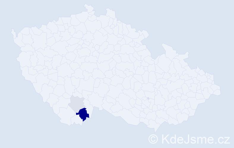 Příjmení: 'Korčak', počet výskytů 5 v celé ČR