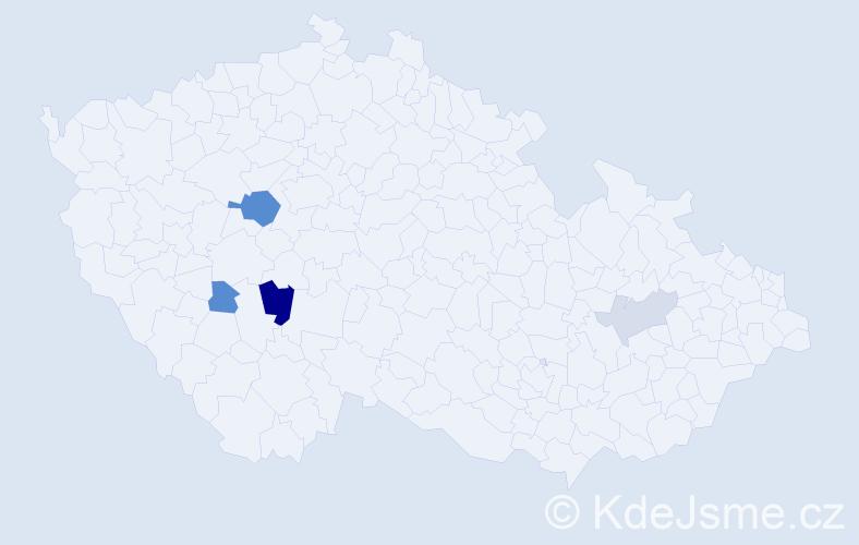Příjmení: 'Lehovičová', počet výskytů 9 v celé ČR