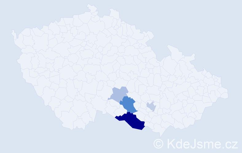 Příjmení: 'Durajka', počet výskytů 13 v celé ČR
