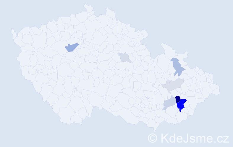 Příjmení: 'Juruška', počet výskytů 23 v celé ČR