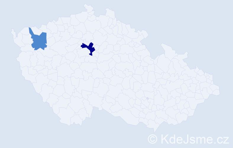 Příjmení: 'Gabányi', počet výskytů 3 v celé ČR
