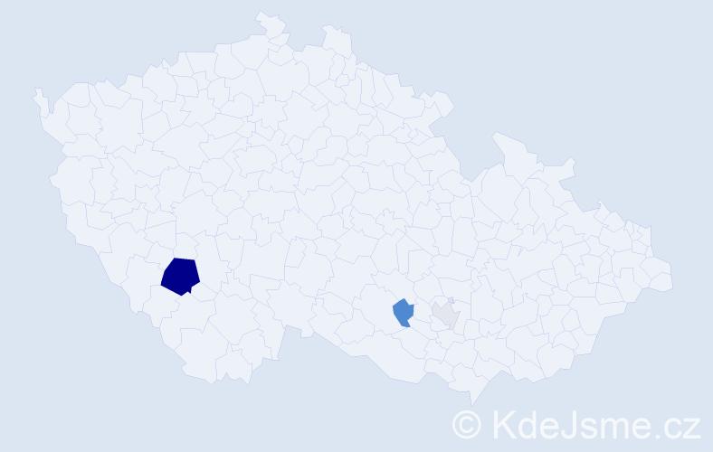 Příjmení: 'Červinčáková', počet výskytů 9 v celé ČR