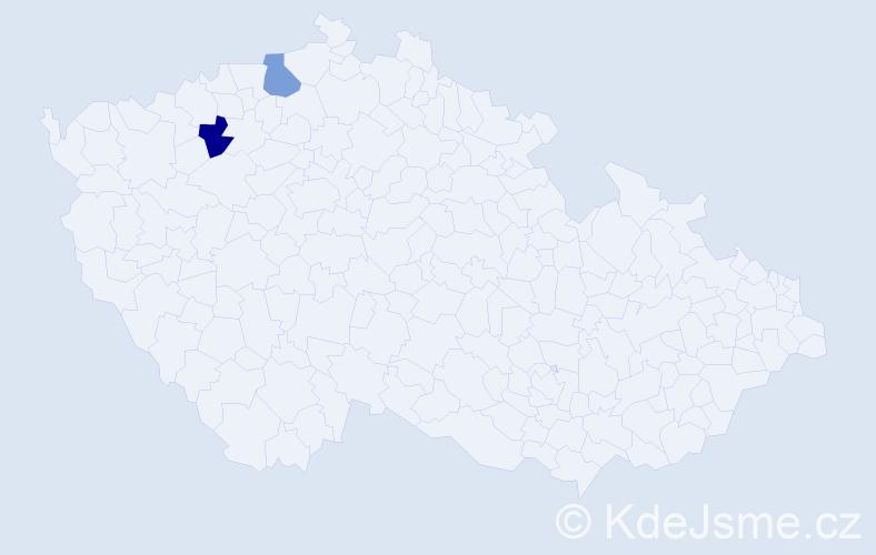Příjmení: 'Eliaş', počet výskytů 2 v celé ČR