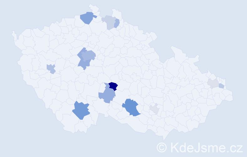 Příjmení: 'Grant', počet výskytů 33 v celé ČR