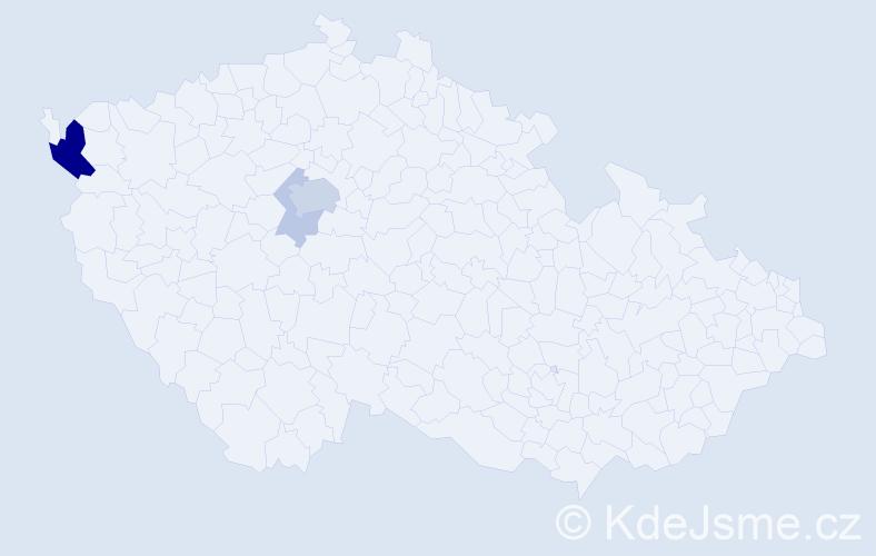 Příjmení: 'Kocevová', počet výskytů 11 v celé ČR