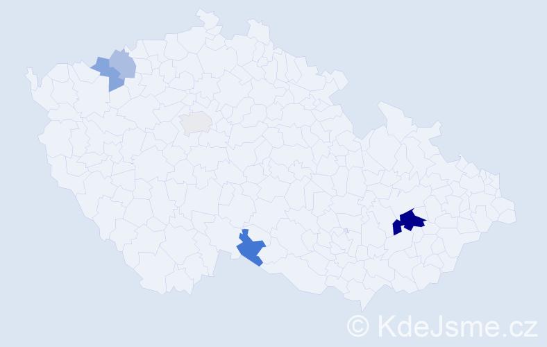 Příjmení: 'Lavrincová', počet výskytů 11 v celé ČR