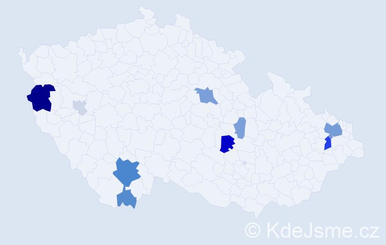Příjmení: 'Dolný', počet výskytů 28 v celé ČR