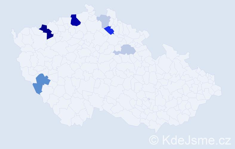 Příjmení: 'Kalferstová', počet výskytů 18 v celé ČR