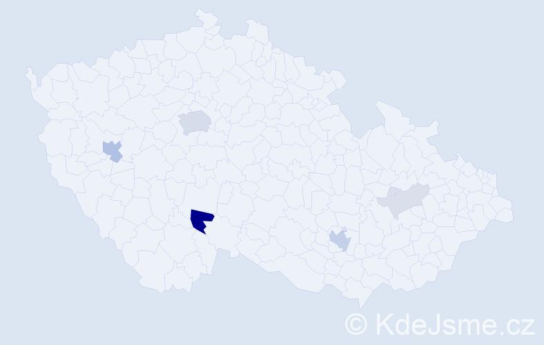 Příjmení: 'Elleder', počet výskytů 19 v celé ČR