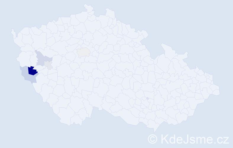 Příjmení: 'Kralovec', počet výskytů 8 v celé ČR