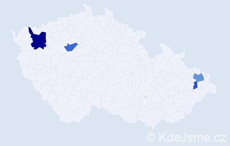 Příjmení: 'Darivčák', počet výskytů 9 v celé ČR