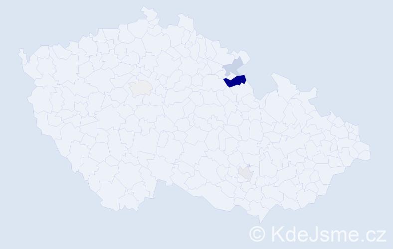 Příjmení: 'Flechtnerová', počet výskytů 7 v celé ČR