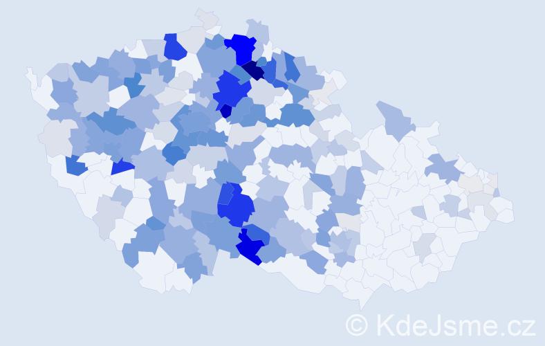 Příjmení: 'Jíra', počet výskytů 873 v celé ČR