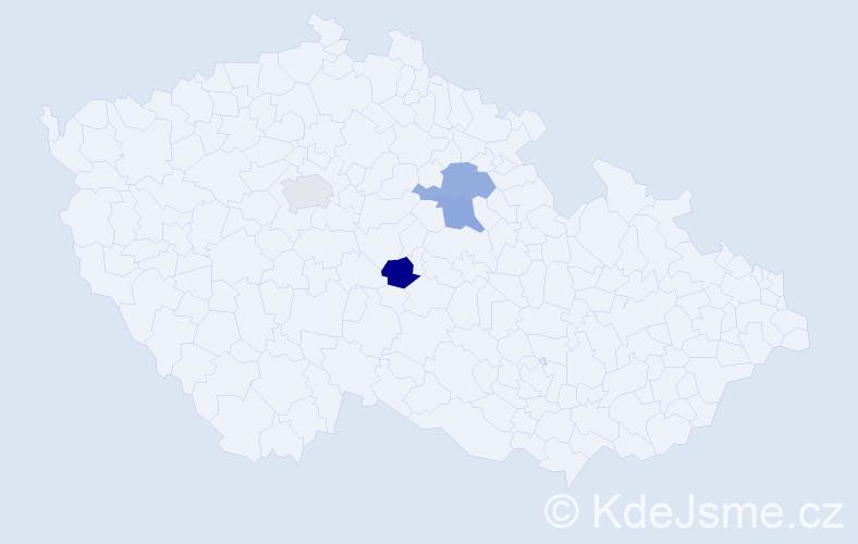 Příjmení: 'Devlin', počet výskytů 4 v celé ČR