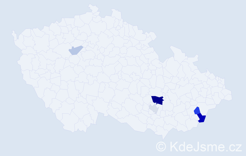 Příjmení: 'Korgo', počet výskytů 10 v celé ČR