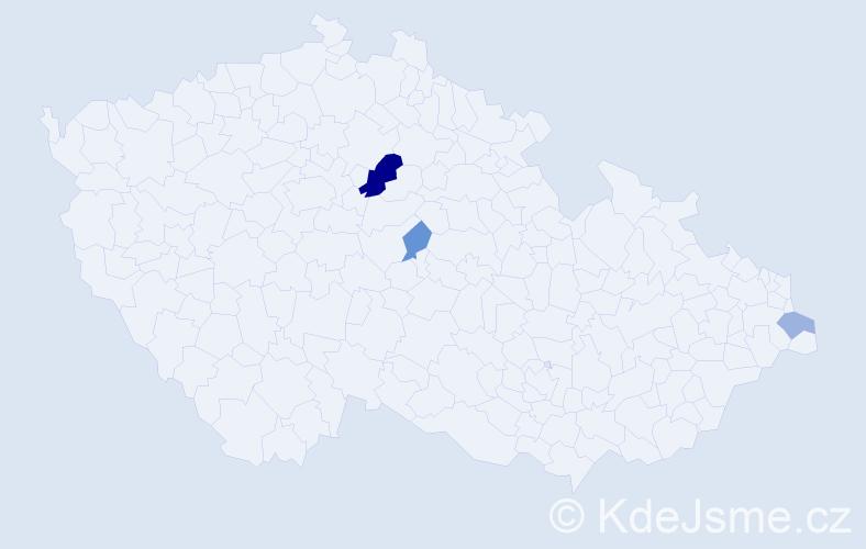 Příjmení: 'Elogová', počet výskytů 6 v celé ČR
