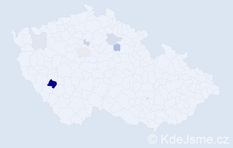 Příjmení: 'Caprata', počet výskytů 14 v celé ČR