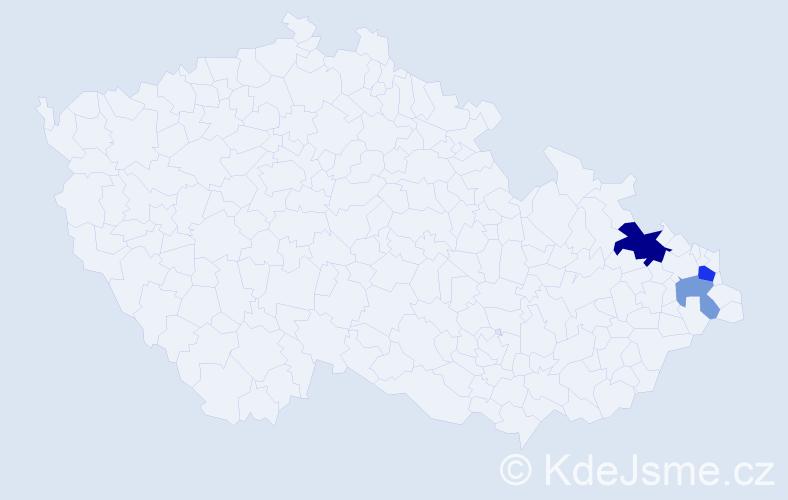 Příjmení: 'Eľková', počet výskytů 6 v celé ČR