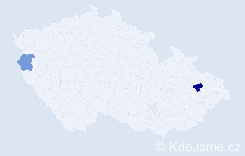 Příjmení: 'Dorot', počet výskytů 6 v celé ČR