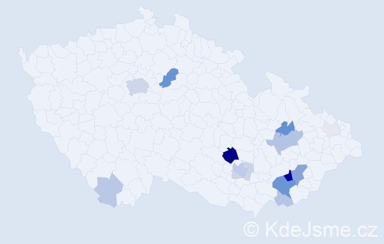 Příjmení: 'Caudrová', počet výskytů 50 v celé ČR