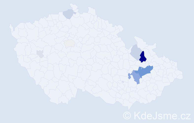 Příjmení: 'Citovská', počet výskytů 17 v celé ČR