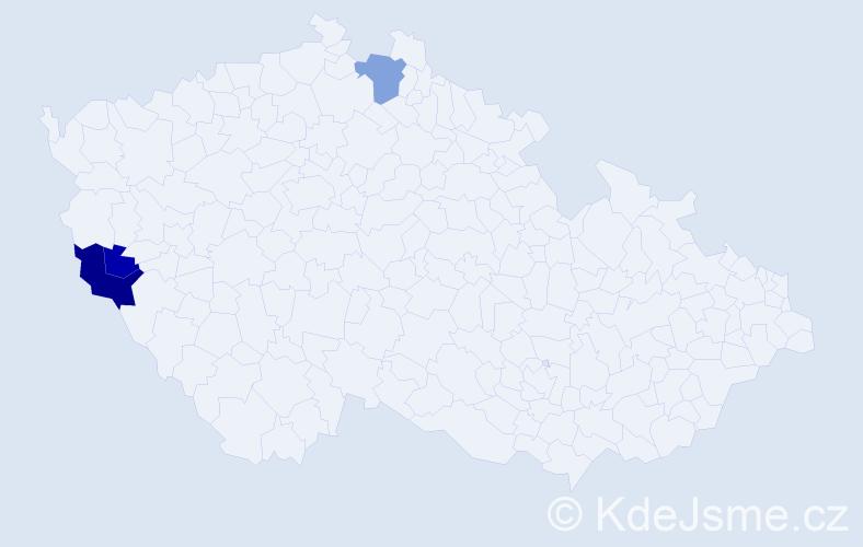 Příjmení: 'Leinhäupelová', počet výskytů 6 v celé ČR