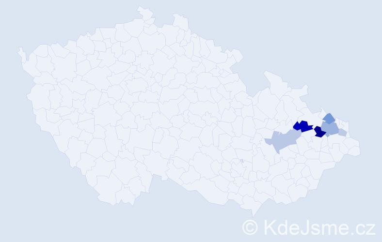 Příjmení: 'Chytroš', počet výskytů 25 v celé ČR
