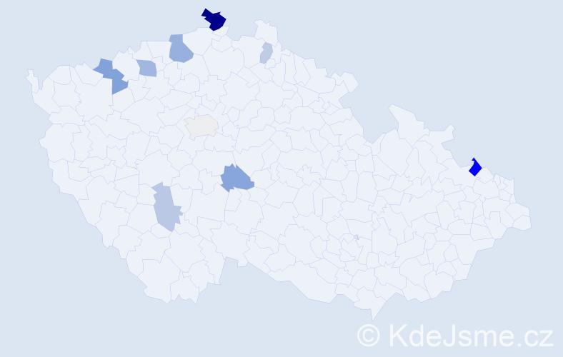 Příjmení: 'Ficajová', počet výskytů 20 v celé ČR