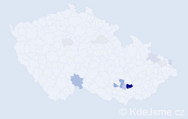 Příjmení: 'Kežlínek', počet výskytů 32 v celé ČR