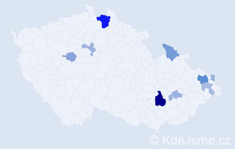 Příjmení: 'Firková', počet výskytů 23 v celé ČR