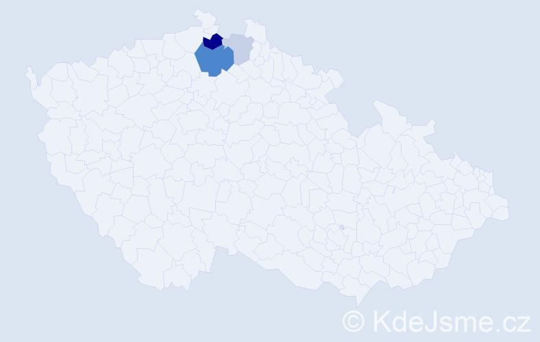 Příjmení: 'Grosmut', počet výskytů 8 v celé ČR