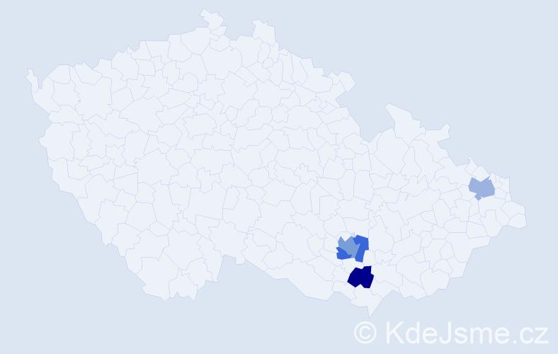 Příjmení: 'Fleišingerová', počet výskytů 5 v celé ČR